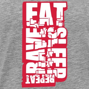 Eat Sleep Rave Repeat Cool DJ Logo T-Shirts - Men's Premium T-Shirt