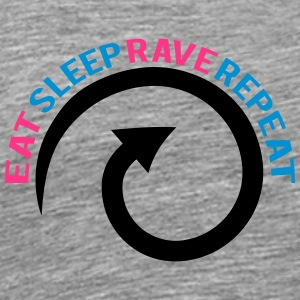 Eat Sleep Rave Repeat Cool Design T-Shirts - Men's Premium T-Shirt