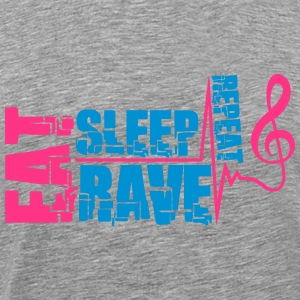 Eat Sleep Rave Repeat Clef Pulse T-Shirts - Men's Premium T-Shirt