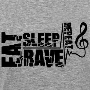 Eat Sleep Rave Repeat Clef Pulse T-Shirts - Männer Premium T-Shirt