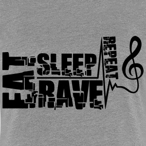 Eat Sleep Rave Repeat Clef Pulse T-Shirts - Frauen Premium T-Shirt
