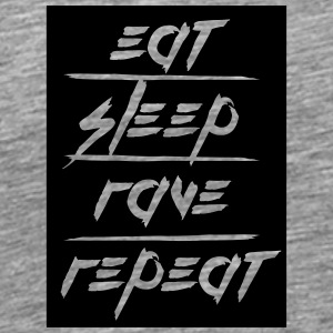 Eat Sleep Repeat Rave rectangle design T-Shirts - Men's Premium T-Shirt