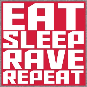 Eat Sleep Repeat Rave square logo T-Shirts - Women's Premium T-Shirt