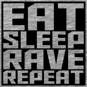 Eat Sleep Repeat Rave square logo T-Shirts - Men's Premium T-Shirt