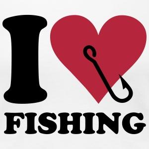 I love fishing T-shirts - Vrouwen Premium T-shirt
