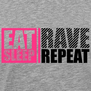 Eat Sleep Repeat Rave Party DJ Logo Design T-Shirts - Men's Premium T-Shirt
