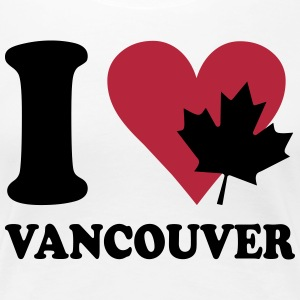 I love vancouver T-shirts - Vrouwen Premium T-shirt
