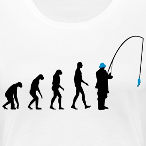 Evolution fishing T-shirts - Vrouwen Premium T-shirt