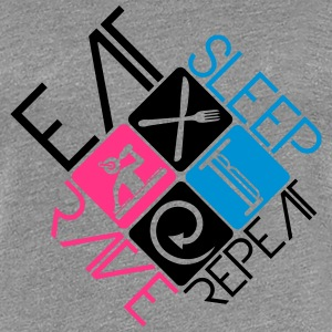 DJ Logo Design Eat Sleep Rave Repeat T-Shirts - Women's Premium T-Shirt