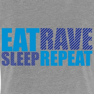 Eat Sleep Repeat Rave Party DJ Logo T-Shirts - Women's Premium T-Shirt