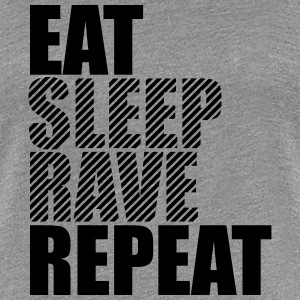 Eat Sleep Repeat Rave Party DJ Design T-Shirts - Women's Premium T-Shirt
