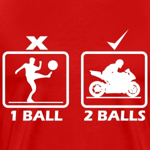 Motorcycle require 2 balls T-Shirts - Men's Premium T-Shirt