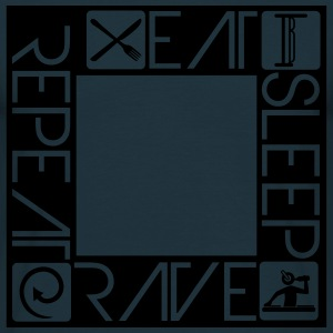 DJ Design Eat Sleep Rave Repeat Quadrat T-Shirts - Men's T-Shirt