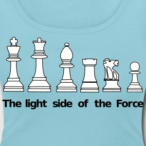 The Light Side of the Force T-shirts - Dame-T-shirt med U-udkæring