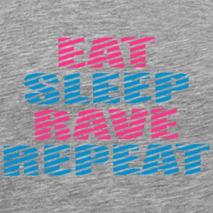 Eat Sleep Repeat Rave DJ Party Logo T-shirts - Mannen Premium T-shirt