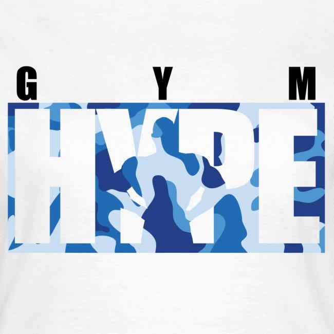 Women's Blue Camo Print T-shirt