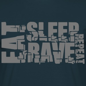 Eat Sleep Repeat Rave DJ Logo T-Shirts - Men's T-Shirt