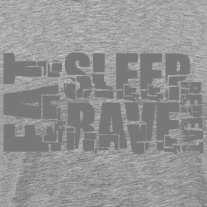 Eat Sleep Repeat Rave DJ Logo T-Shirts - Men's Premium T-Shirt