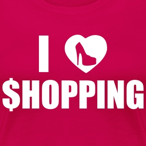 I Love Shopping T-skjorter - Premium T-skjorte for kvinner