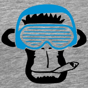 Party DJ music Smoking Weed Joint Monkey T-Shirts - Men's Premium T-Shirt