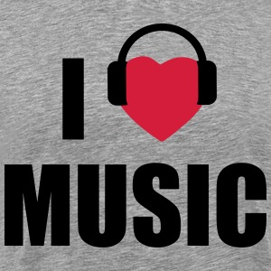 i love music T-skjorter - Premium T-skjorte for menn