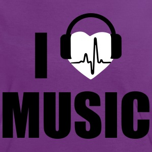 I love music headphone T-Shirts - Women's Ringer T-Shirt
