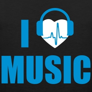 I love music headphone Odzież sportowa - Tank top męski Premium