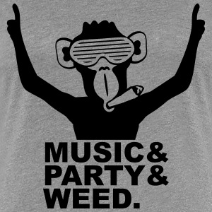 Party Ape DJ Weed Joint Music Fun T-Shirts - Frauen Premium T-Shirt