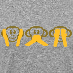 Not Hearing Seeing Talk 3 wise monkeys T-Shirts - Men's Premium T-Shirt