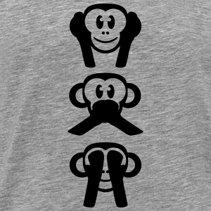 Not Listening Speaking See 3 wise monkeys T-Shirts - Men's Premium T-Shirt