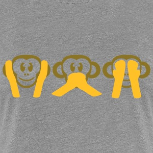 Not Hearing Seeing Talk 3 wise monkeys T-Shirts - Women's Premium T-Shirt