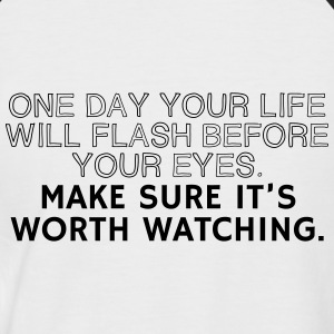 One Day Your Life Will Flash before your eyes Camisetas - Camiseta béisbol manga corta hombre