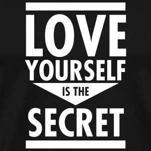 Love Yourself Is The Secret T-skjorter - Premium T-skjorte for menn