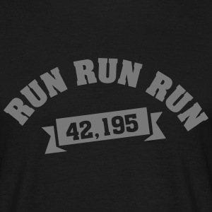 Run Run Run 42,195 (Marathon) T-Shirts - Men's T-Shirt