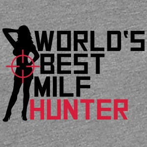 Worlds Best Milf Hunter Logo T-shirts - Premium-T-shirt dam