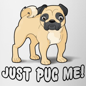Just Pug Me Cartoon Dog Mug - Contrasting Mug