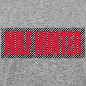 Text Logo Milf Hunter T-shirts - Premium-T-shirt herr