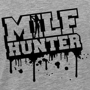Sexy Milf Hunter Graffiti Design T-Shirts - Men's Premium T-Shirt