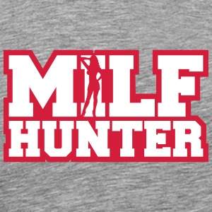 Sexy Milf Hunter Design T-Shirts - Men's Premium T-Shirt
