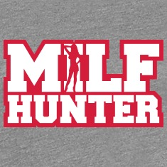 Sexy Milf Hunter Design T-Shirts