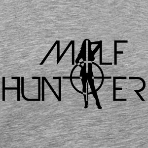 Hot Milf Hunter Sniper Logo Design T-Shirts - Men's Premium T-Shirt