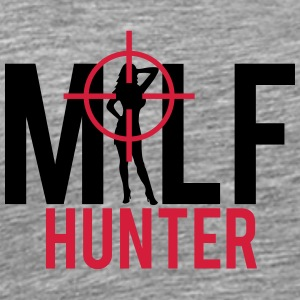 Milf Hunter Sight Kvinnor Jakt T-shirts - Premium-T-shirt herr