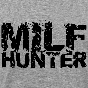 Milf Hunter Text Design T-Shirts - Men's Premium T-Shirt