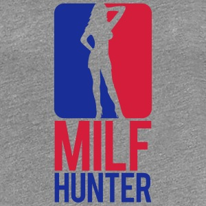 Milf Hunter Sports Logo Design T-Shirts - Women's Premium T-Shirt