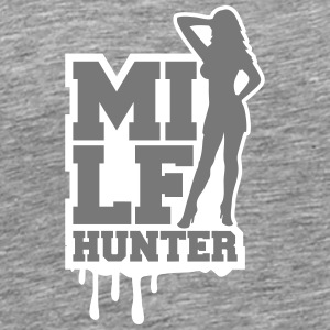Cool Milf Hunter Graffiti Logo T-Shirts - Men's Premium T-Shirt