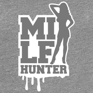 Cool Milf Hunter Graffiti logotyp T-shirts - Premium-T-shirt dam