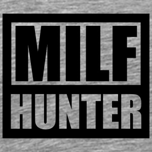 Cool logotyp Design Milf Hunter T-shirts - Premium-T-shirt herr