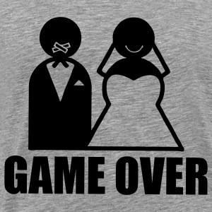 Game Over weeding T-skjorter - Premium T-skjorte for menn