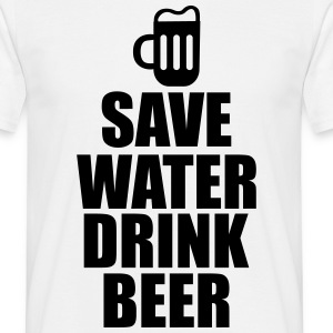 Alcool Fun Shirt - Save water drink beer Tee shirts - T-shirt Homme