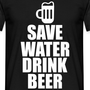 Alcohol Fun Shirt - Save water drink beer T-skjorter - T-skjorte for menn